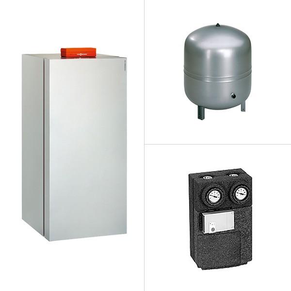 Viessmann Vitocrossal 300, Gas-Brennwertkessel, Erweiterung solare Trinkwassererwärmung