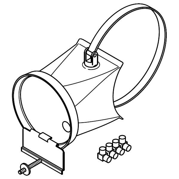 Viessmann Nebenluftvorrichtung (Zugbegrenzer für Einbau in das Verbindungsstück)