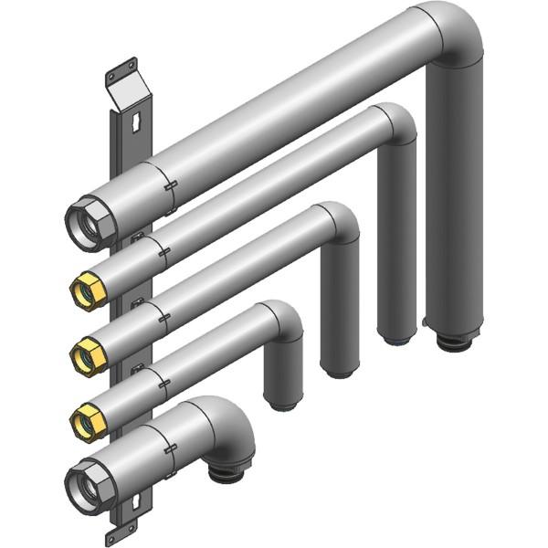 Viessmann Hydraulisches Anschluss-Set Heizkreis für Aufputzinstallation nach links oder rechts
