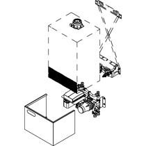 Viessmann Unterbau-Kit mit Mischer für Gas-Umlaufwasserheizer