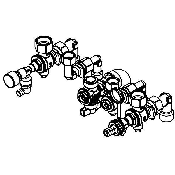 Viessmann Armaturen für Aufputz-Montage für Gas-Kombiwasserheizer