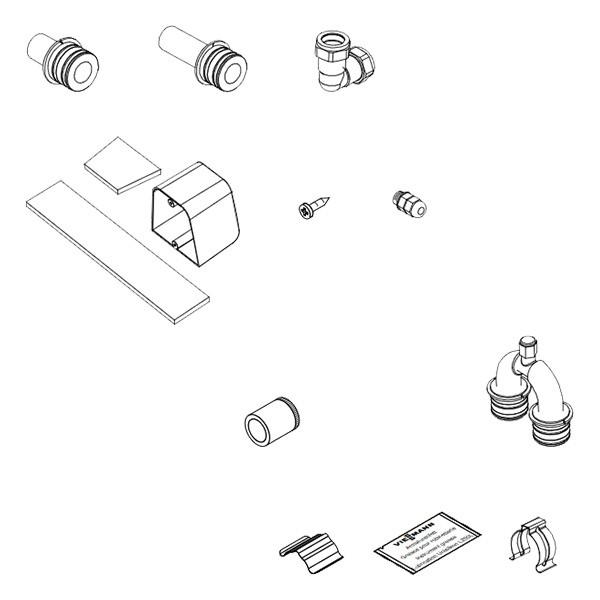 Viessmann Anschluss-Set mit Entlüfterbogen (Vitosol 300-TM)