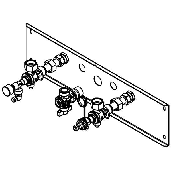 Viessmann Armaturen für Unterputz-Montage für Gas-Umlaufwasserheizer