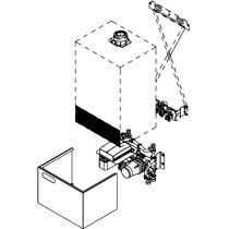 Viessmann Unterbau-Kit mit Mischer für Gas-Kombiwasserheizer