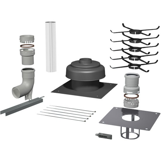Viessmann Basispaket Schacht Metall/PPS, flexibel