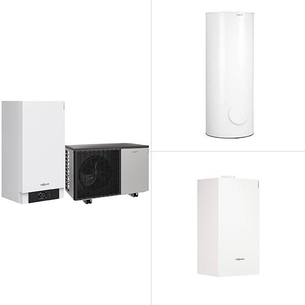 Viessmann Vitocal 200-S, Luft/Wasser-Wärmepumpe in Split-Ausführung mit Vitocell 100-W