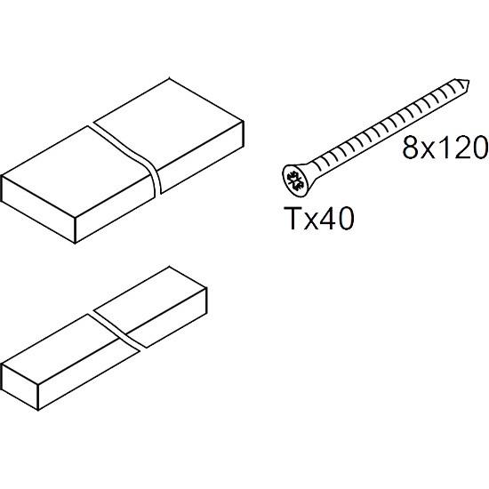 Viessmann Montageholz für Dachintegration mit Befestigungsschrauben