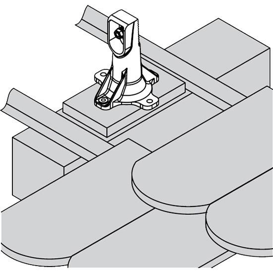 Viessmann Befestigungssystem Sparrenflansch (Biberschwanz- und Schiefer-Eindeckung)