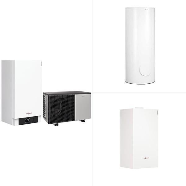 Viessmann Vitocal 200-A, Luft/Wasser-Wärmepumpe in Monoblock-Ausführung mit Vitocell 100-W