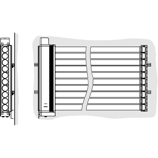 Viessmann Befestigungssystem Fassadenmontage (waagerechte Montage Vitosol 300-TM)