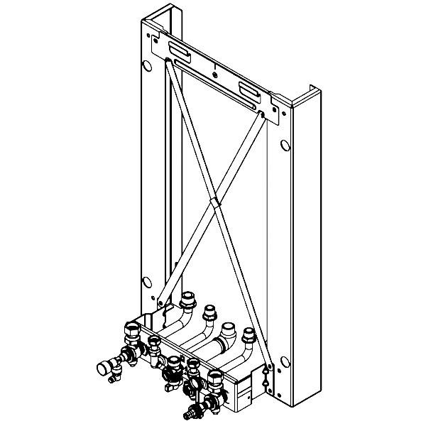 Viessmann Montagerahmen für Aufputz-Montage für Gas-Kombiwasserheizer