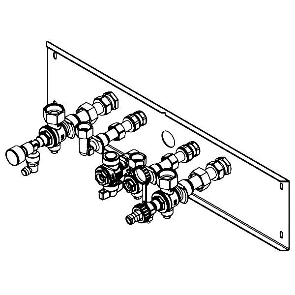 Viessmann Armaturen für Unterputz-Montage für Gas-Kombiwasserheizer