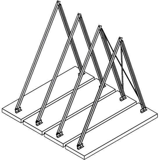 Viessmann Befestigungssystem Aufständerung (Flachdach/Unterkonstruktion)